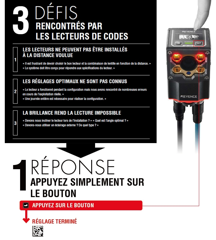 SR-1000 Series Autofocus 1D and 2D Code Reader Catalogue (French)
